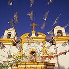 Church flags in Mexico by Richard McCaig