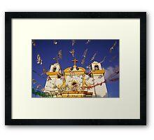 Church flags in Mexico Framed Print
