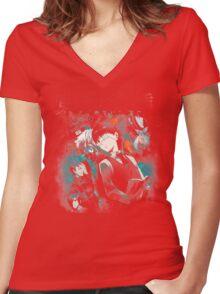 Kaneki Ken Cover Women's Fitted V-Neck T-Shirt