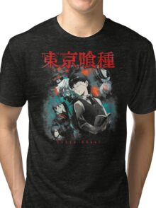 Kaneki Ken Cover Tri-blend T-Shirt
