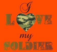 I LOVE MY SOLDIER Kids Tee