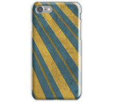Urban Style Golden Stripes on Blue Backgroun iPhone Case/Skin