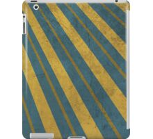 Urban Style Golden Stripes on Blue Backgroun iPad Case/Skin