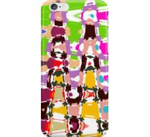 Messy Colorful Triangles Abstract iPhone Case/Skin