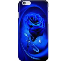 PHOTOSHOP BLUE ROSE VERSION TWO..JOURNAL,PICTURE-PILLOW ECT.ECT.. iPhone Case/Skin
