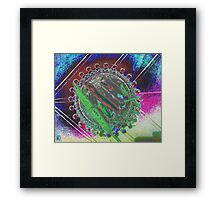 Hot Chilies in Glass Bowl Framed Print