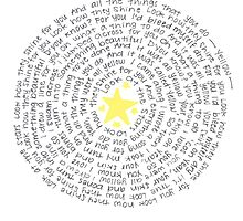 """Yellow"" Spiraled Lyrics by LookItsHailey"