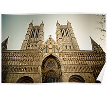 The West Front of Lincoln Cathedral Poster