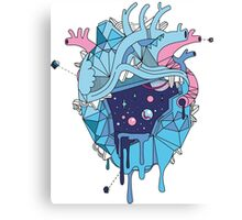 Frozen Alien Heart Canvas Print