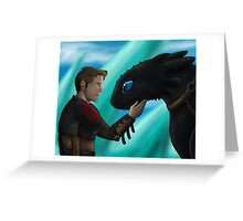 Supernatural x HTTYD AU Greeting Card