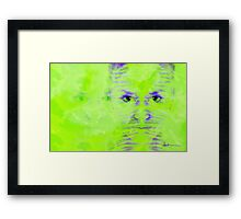 Reptile Girl Framed Print