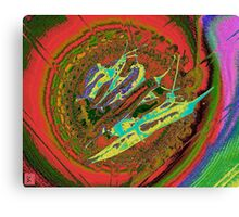 Hot Chilies circled by colours Canvas Print