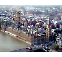 London Tilt Shift Model Photographic Print