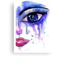 Painted Stylized Face Canvas Print