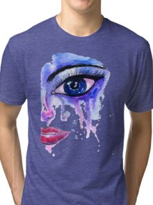 Painted Stylized Face Tri-blend T-Shirt