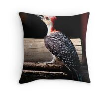 Red-breasted Wood-pecker Throw Pillow