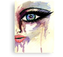 Painted Stylized Face 2 Canvas Print