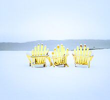 Three Yellow Chairs by Gisele Bedard