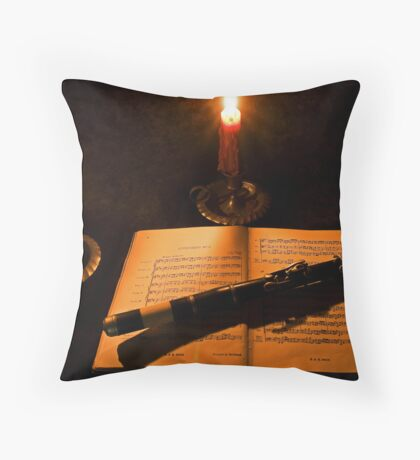 Bach by Candlelight Throw Pillow