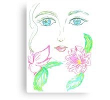 Painted Stylized Face 3 Canvas Print