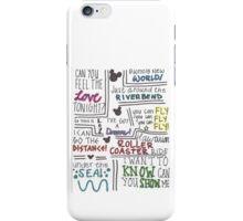 Disney Lyrics #2 iPhone Case/Skin