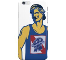 Hipster Mountaineer iPhone Case/Skin