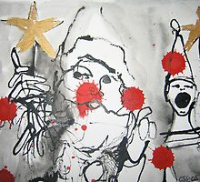Santa with a golden star by Catrin Stahl-Szarka