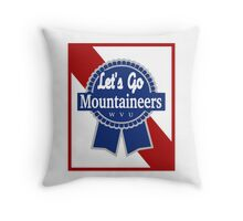 Lets Go Mountaineer Pabst Design Throw Pillow