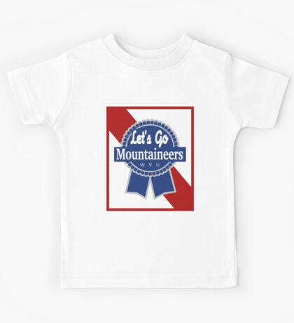 Lets Go Mountaineer Pabst Design Kids Tee