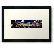 Twins Stadium panorama Framed Print