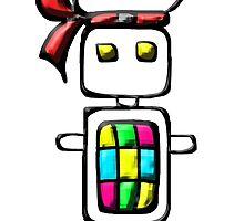 Ninja-bot Mascot  by mashupofme