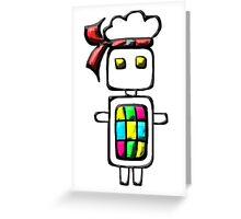 Ninja-bot Mascot  Greeting Card
