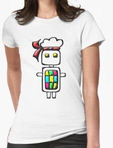 Ninja-bot Mascot  Womens Fitted T-Shirt