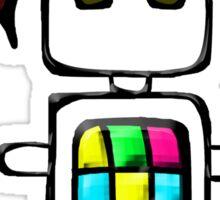 Ninja-bot Mascot  Sticker