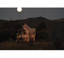 The haunted house Photographic Print