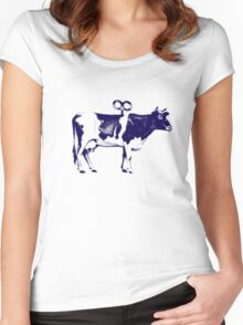 cow Women's Fitted Scoop T-Shirt