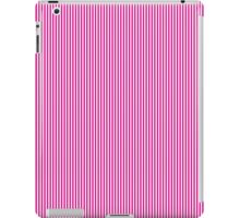 Pink and White Vertical Micro Pin Stripes iPad Case/Skin