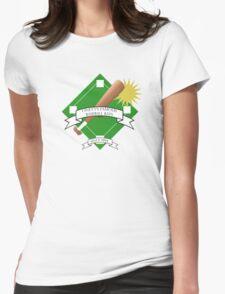 Onett Baseball Bat Logo Womens Fitted T-Shirt