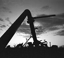 Dawn at the metal dump by Brian Downs