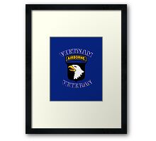 101st Airborne Vietnam Veteran -  iPad Case Framed Print