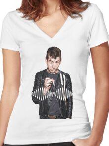 Alex Turner - Tribute To Arctic Monkeys  Women's Fitted V-Neck T-Shirt