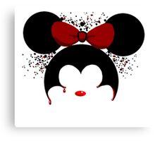 Murderous Minnie Mouse Canvas Print