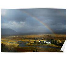 Rainbow Glow - Thingvellir, Iceland Poster