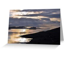 Storm clouds over Sumburgh Head Greeting Card