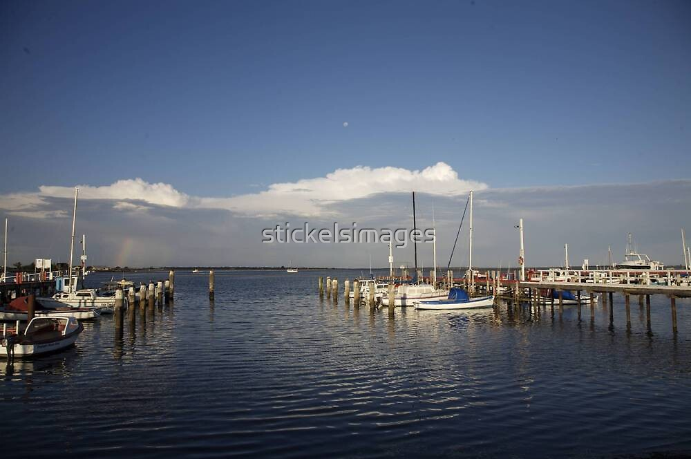 seascapes #245, moon over rainbow by stickelsimages