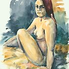 Nude II - Study of Amanda by Elisabeta Hermann