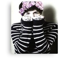 Oli Sykes with a Flower Crown Canvas Print