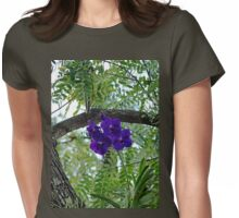Vanda In Purple Womens Fitted T-Shirt