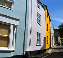 A Street in Lyme Dorset UK by lynn carter