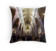 Castle Church Throw Pillow